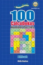 100 CalcuDokus Number Puzzles - Difficult